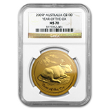 Perth Mint Gold (2009 Ox Coins) (NGC Certified)