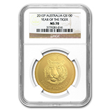 Perth Mint Gold (2010 Tiger Coins) (NGC Certified)