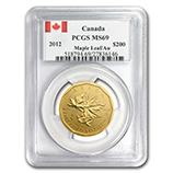 RCM .99999 Gold Bullion Coins (PCGS Certified)