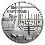 Hanukkah Themed (Silver Bars & Rounds)