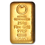 250 gram (Gold Bars & Rounds)