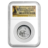Perth Mint High Relief Silver Kangaroo Coins (NGC Certified)