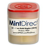 1 oz Gold Maple Leafs (MintDirect®)