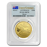 Perth Mint Gold (2014 Horse Coins) (PCGS Certified)
