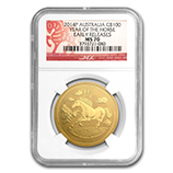 Perth Mint Gold (2014 Horse Coins) (NGC Certified)