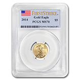 1/10 oz Gold Eagles (PCGS Certified)
