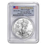 Silver Eagles (West Point Mint) (PCGS Certified)