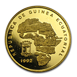 Gold Coins from Equatorial Guinea