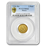 Gold 2 Pesos (PCGS Certified) (1947 & Prior)