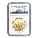 1 oz Gold Maple Leafs (NGC Certified)