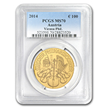 1 oz Gold Philharmonics (PCGS Certified)