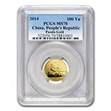 1/4 oz Gold Pandas (PCGS Certified)