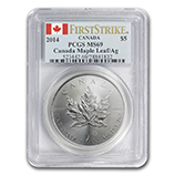 Silver Maple Leafs (PCGS Certified)
