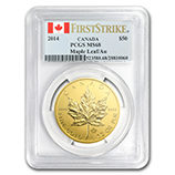 1 oz Gold Maple Leafs (PCGS Certified)
