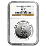 1 oz & Larger Platinum Koalas (NGC Certified)