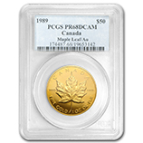 Proof Gold Maple Leafs (PCGS Certified)