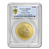Perth Mint Gold (2000 Dragon Coins) (PCGS Certified)