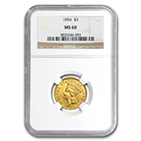 NGC $3.00 US Gold (Princess 1854-1889)