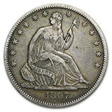 Liberty Seated Half Dollars (1839 - 1891)