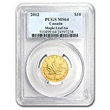1/4 oz Gold Maple Leafs (PCGS Certified)