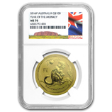 Perth Mint Gold (2016 Monkey Coins) (NGC Certified)