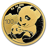 Chinese Gold Pandas (.25 oz / 8 gram)