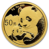 Chinese Gold Pandas (.1 oz / 3 gram)