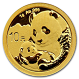 Chinese Gold Pandas (.05 oz / 1 gram)