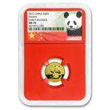 1/10 oz - 3 gram Gold Pandas (NGC Certified)