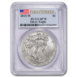 Silver Eagles (Burnished PCGS Certified)
