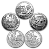 Silver America The Beautiful 5 oz Coins (Sets)