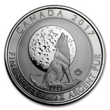 3/4 oz Silver Canadian Howling Wolves Coins