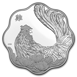 RCM Silver Lunar Coins (2017 Rooster Coins)