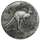 Perth Mint High Relief Silver Kangaroo Coins