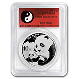 Chinese Silver Pandas (BU & Proof) (PCGS Certified)