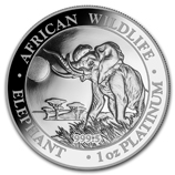 Platinum Elephant Coins from Somalia