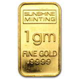 1 gram Gold, Silver, Platinum & Palladium Sale