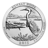 2015 5 oz Silver ATB Bombay Hook National Wildlife Refuge, DE