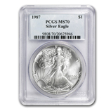 Certified Mint State Silver Eagles
