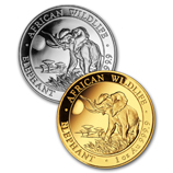 2016 Gold and Silver Somalian Elephants