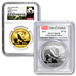 Graded 2016 Gold and Silver Pandas