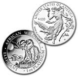 Platinum Coins From Around The World