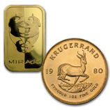 Gold Krugerrands & Rand Gold Bars