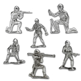 Silver Army Figurines