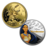 Disney-Themed Gold and Silver Coins