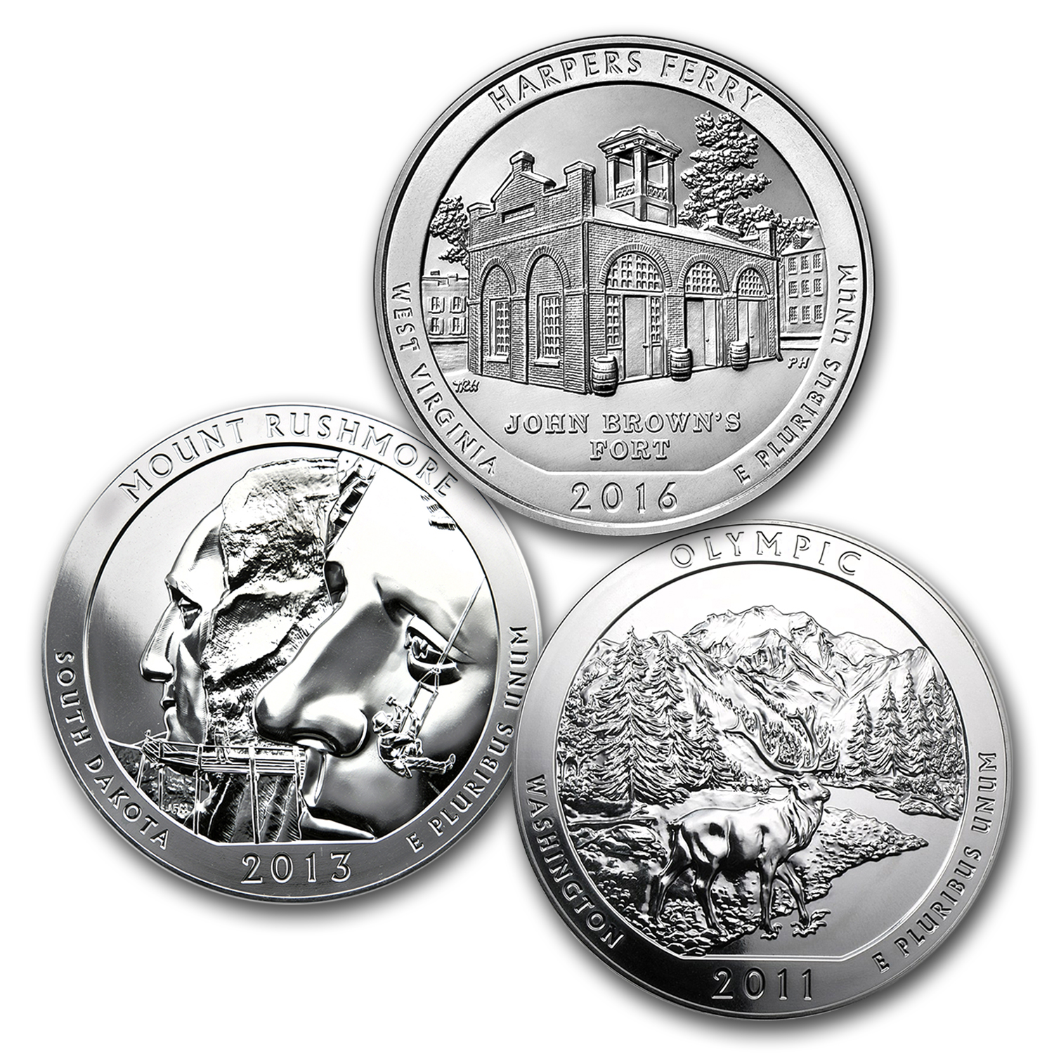 Silver 5 oz America The Beautiful Series