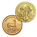 Flash Sale: Random Year 1 oz Gold Krugerrands and Philharmonics