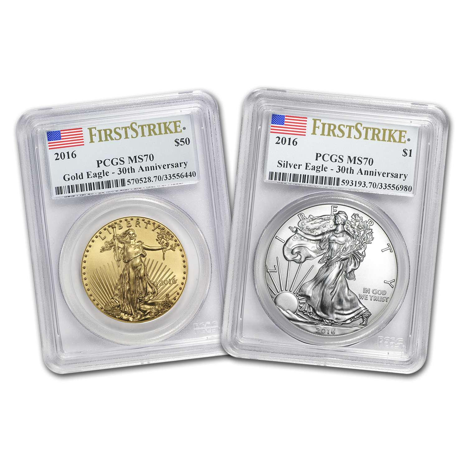 2016 Certified U.S. Gold & Silver Eagles