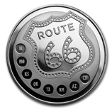 Get Your Kicks on Route 66 1 oz Silver Rounds