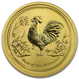 2017 Gold Lunar Year of the Rooster